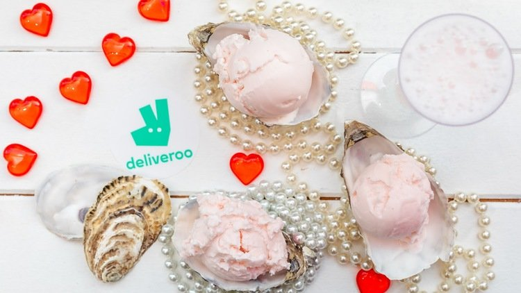Deliveroo & Scoop partner-up to create aphrodisiac oyster ice cream